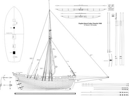 Cutter Cheerfull 1806 ship model plans