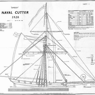 Cutter HMS Speedy 1828 ship model plans