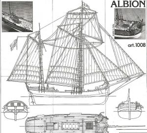 Cutter Trading Vessel Albion XVIIIc ship model plans