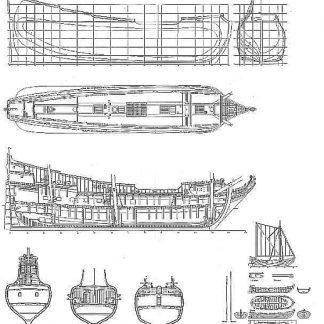 Fluit Anna Maria 1694 ship model plans