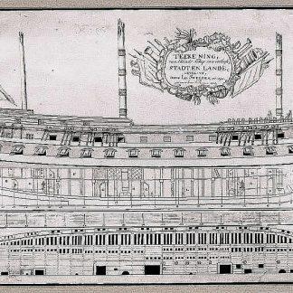 Fluit Stadt En Lande 1790 ship model plans