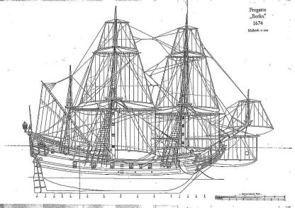 Frigate Berlin 1674 ship model plans