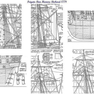 Frigate Bon Homme Richard 1779 ship model plans