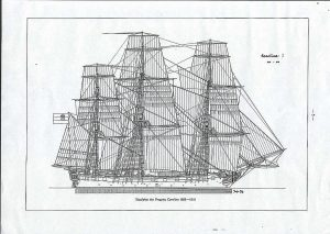 Frigate Carolina 1808 ship model plans