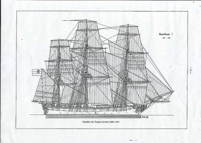 Frigate Carolina 1808 ship model plans