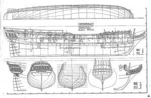 Frigate Confederacy 1778 ship model plans