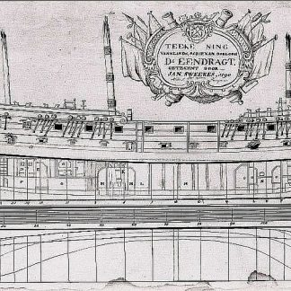 Frigate D'eendragt 1769 ship model plans