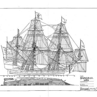Frigate Friedrich III 1689 ship model plans