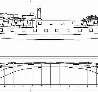 Frigate Guipuzcoano Assuncion 64-1778 ship model plans