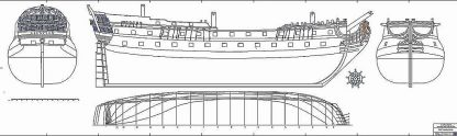 Frigate Guipuzcoano Assuncion 64-1778 ship model plans