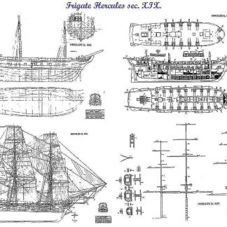 Frigate Hercules 1798 ship model plans
