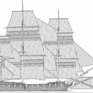 Frigate HMS Southampton 1757 ship model plans
