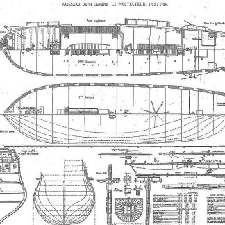 Frigate Le Protecteur (1793) ship model plans