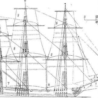 Frigate Nadezhda 1766 ship model plans