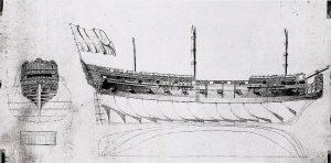 Frigate Prins Frieso 1728 ship model plans