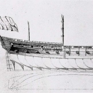 Frigate Prins Frieso 1728 ship model plans