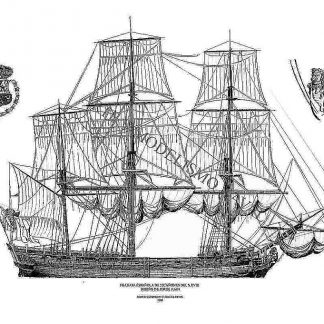 Frigate Spanish XVIIIc ship model plans
