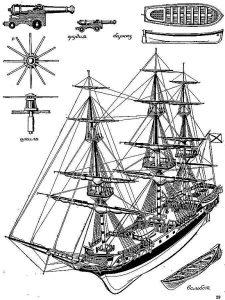 Frigate Sv Nikolai 1790 ship model plans