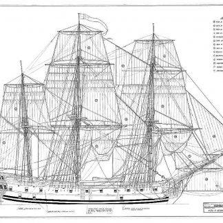 Frigate Trading HMS Falmouth 1752 ship model plans