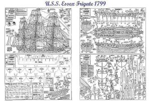 Frigate Uss Essex 1799 ship model plans
