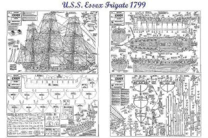 Frigate Uss Essex 1799 ship model plans