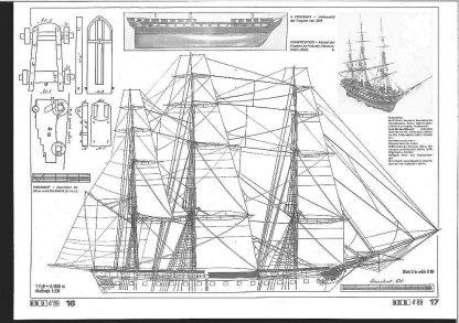 Frigate Uss President 1800 ship model plans
