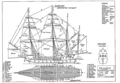 Galleon Adler Von Lubeck 1566 ship model plans