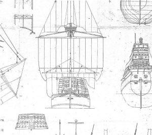 Galleon Elizabeth Jonas 1598 ship model plans