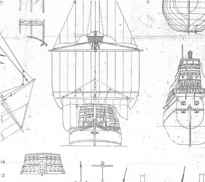 Galleon Elizabeth Jonas 1598 ship model plans