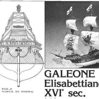 Galleon (Elizabethan) XVIc ship model plans