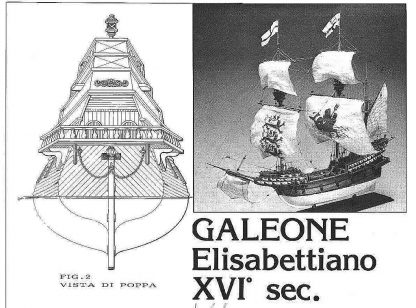 Galleon (Elizabethan) XVIc ship model plans