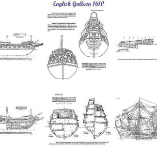 Galleon (English) 1610 ship model plans