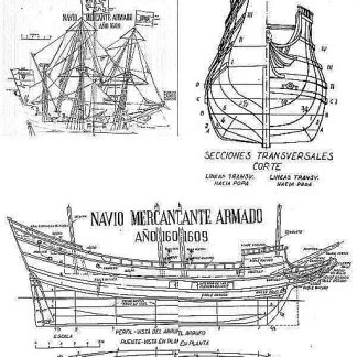 Galleon Half Moon 1609 ship model plans