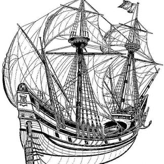 Galleon Merkur XVIc ship model plans
