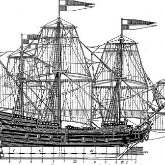 Galleon Orel 1669 ship model plans