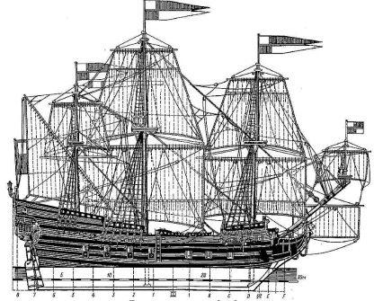 Galleon Orel 1669 ship model plans