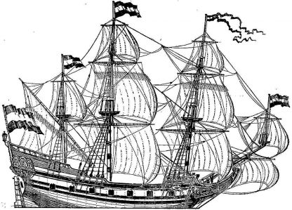 Galleon Pinnace Heemskerck 1638 ship model plans