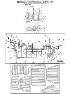Galleon San Francisco XVIc ship model plans
