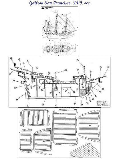 Galleon San Francisco XVIc ship model plans