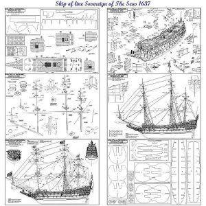 Galleon Sovereign Of The Seas 1638 ship model plans