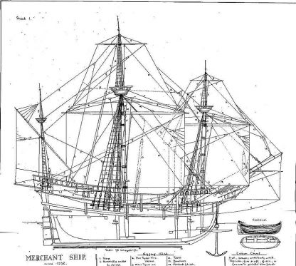 Galleon (Trading) 1532 ship model plans