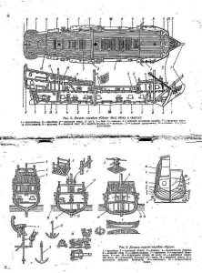 Galleon Tselovalnikov 1609 ship model plans