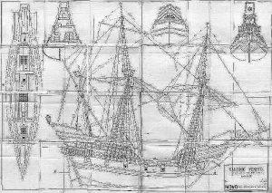 Galleon (Venetian) XVIc ship model plans