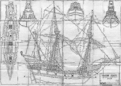 Galleon (Venetian) XVIc ship model plans