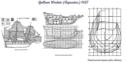 Galleon Vodnik 1623 ship model plans