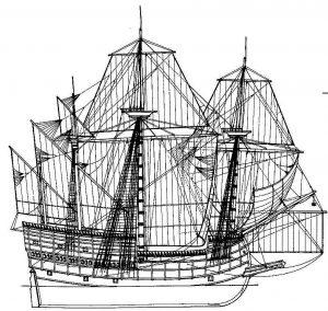 Galleon XVIc ship model plans