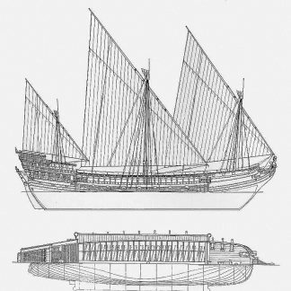 Galley (French) XVIIc ship model plans