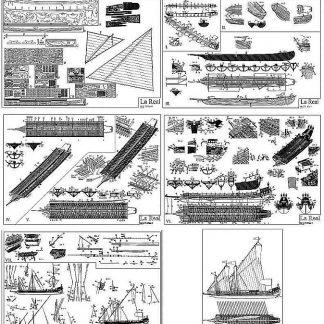 Galley La Real 1571 ship model plans