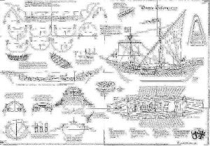 Galley Nuestra Senora 1275 ship model plans