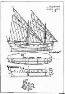 Galley Us Washington 1776 ship model plans
